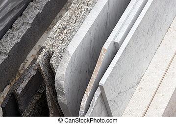 marmor, skivor