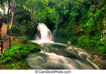 Marmore waterfalls (Cascate delle Marmore), Umbria, Italy
