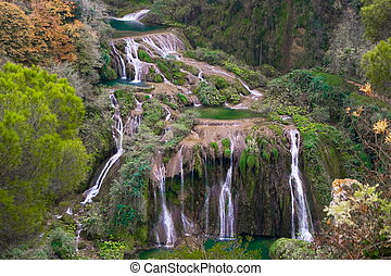 Marmore waterfalls, Italy - The three jumps of Marmore ...