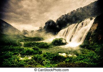 marmore, watervallen
