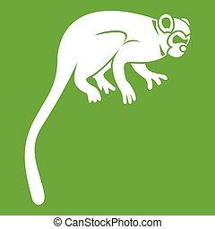 Marmoset monkey icon green - Marmoset monkey icon white...