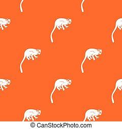 Marmoset monkey pattern seamless
