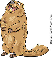 marmot animal cartoon illustration