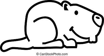 marmota, contorno