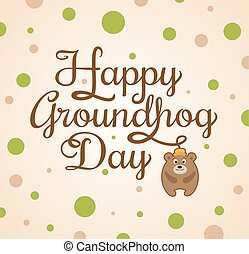 marmota, tarjeta, día