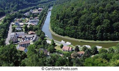 Marne-Rhine canal, Alsace, France