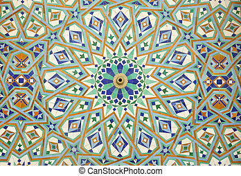 maroc, casablanca, oriental, mosaïque