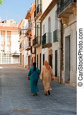 maroc, mujer, españa