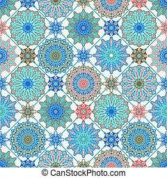 marocchino, vettore, seamless, pattern.