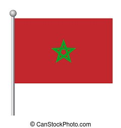 Marocco flag vector template background realistic copy
