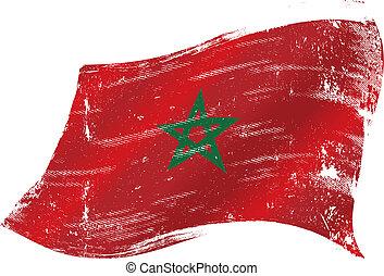 marocco, grunge, bandera
