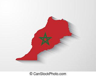 marocco, uggia, effetto, mappa