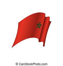 marocco, vettore, bandiera, illustrazione