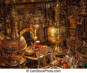 marockansk, antikvitetsaffär