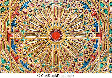 marokkó, afrika, hagyományos, keleti, fez, faragás