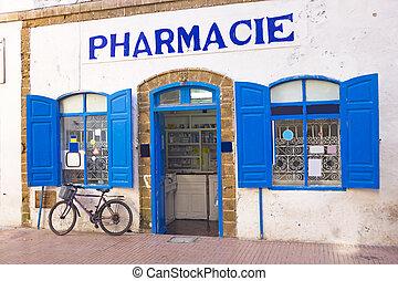 marokkói, gyógyszertár, alatt, marokkó