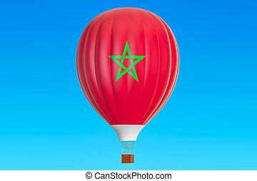 maroko, balloon, prapor, stavět na odiv, překlad, horký, 3
