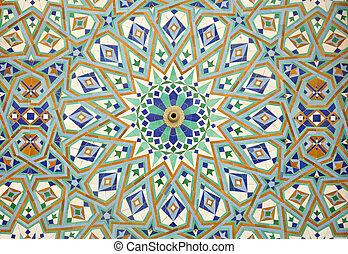 maroko, casablanca, orientální, mozaika