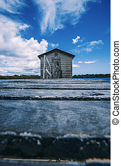 Maroochy River Boat House during the day. - Maroochy River...