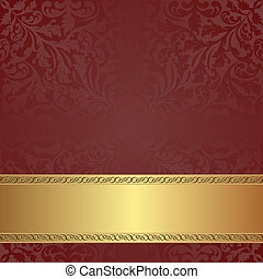 maroon background with golden frame