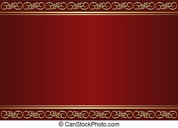 maroon and gold background with ornaments maroon and gold background with ornaments