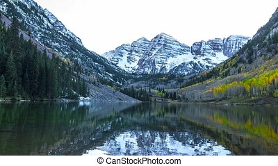 Maroon Bells Aspen Colorado 4k time