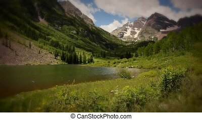 Maroon Bells Peaks Mountains - Themes of outdoor adventure,...