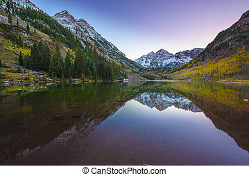 Maroon Bells Sunrise Aspen Colorado - Maroon Bells and its...