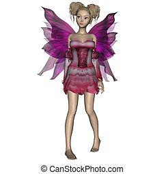 Maroon Fairy2 - Maroon fairy in a goofy pose