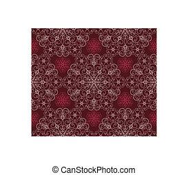 Maroon Floral Pattern
