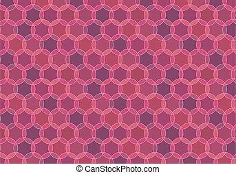 Maroon looped seamless pattern