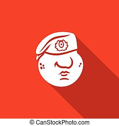 Maroon Military Red Beret of Russian Army Special Forces icon. Vector Illustration.