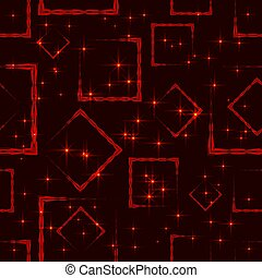 Maroon rhombuses and squares at the intersection with the stars on a dark background.