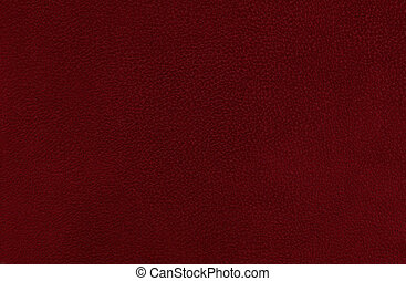 Closeup detail of red/ maroon leather texture background.