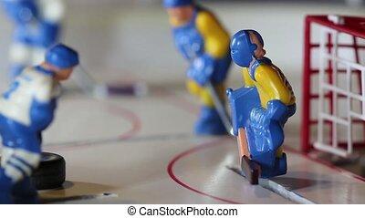 marqué, joueur, but, hockey glace