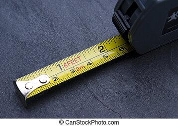marquages, métrique, mesure, bande, impérial