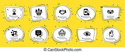 marque, ambassadeur, signs., gens, t-shirt, education, icône...