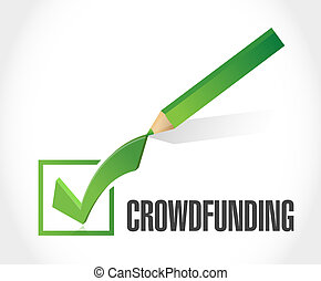 marque, concept, chèque, crowdfunding, signe
