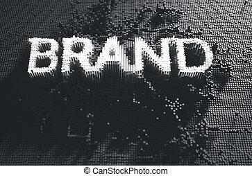 marque, concept, pixel
