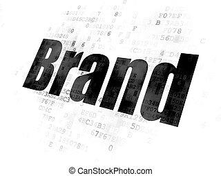 marque, concept:, publicité, fond, numérique
