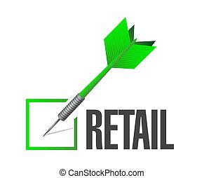 marque, concept, signe, chèque, vente au détail