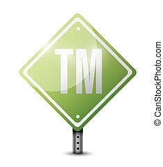 marque déposée, conception, route, illustration, signe