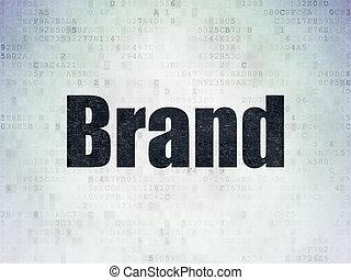 marque, papier, publicité, fond, numérique, données, concept: