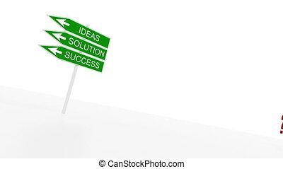 marque, question, panneaux signalisations