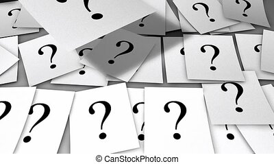 marque, question, papiers