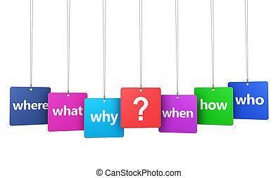 marque, question, questions, signes