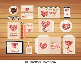 marque, valentines, style, identité