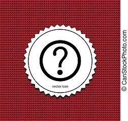 marque, vecteur, question, icône