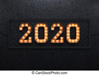 Marquee light 2020 background