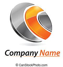 marquer, 3d, logo